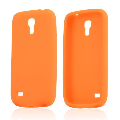 Orange Silicone Skin Case for Samsung Galaxy S4 Mini