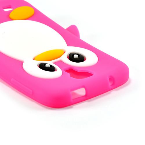 Hot Pink Penguin Silicone Case for Samsung Galaxy S4
