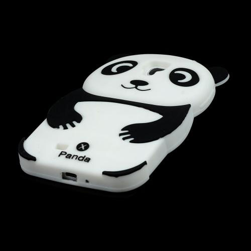 Black/ White Panda Bear Silicone Case for Samsung Galaxy S4