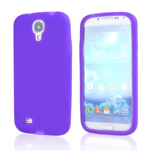 Purple Silicone Case for Samsung Galaxy S4