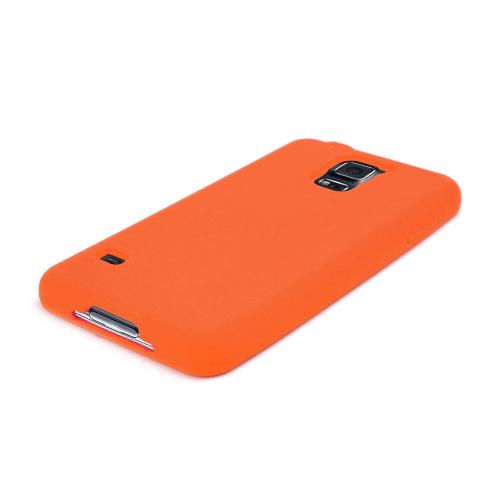 Orange Silicone Skin Soft Case for Samsung Galaxy S5