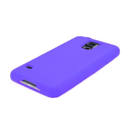 Purple Silicone Skin Soft Case for Samsung Galaxy S5