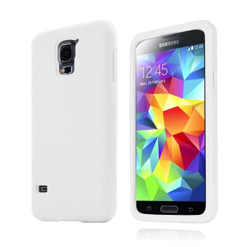 Solid White Silicone Skin Case for Samsung Galaxy S5
