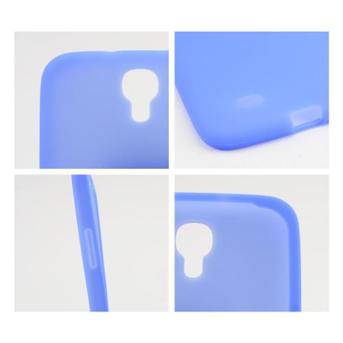 Blue Silicone Skin Case for Samsung Galaxy Mega 6.3