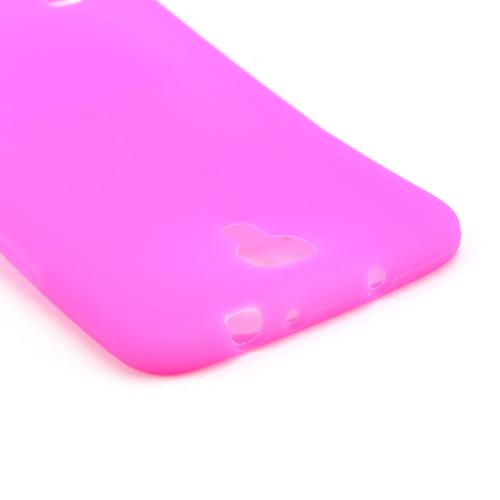 Hot Pink Silicone Skin Case for Samsung Galaxy Mega 6.3