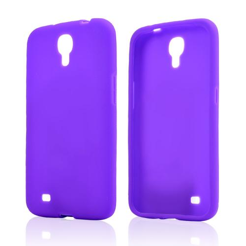 Purple Silicone Skin Case for Samsung Galaxy Mega 6.3