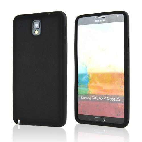 Black Silicone Skin Case for Samsung Galaxy Note 3