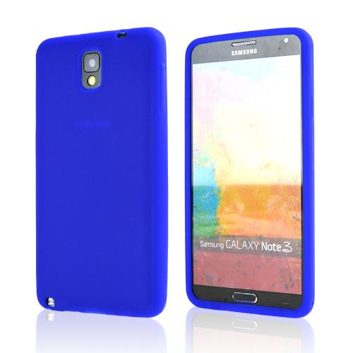 Blue Silicone Skin Case for Samsung Galaxy Note 3