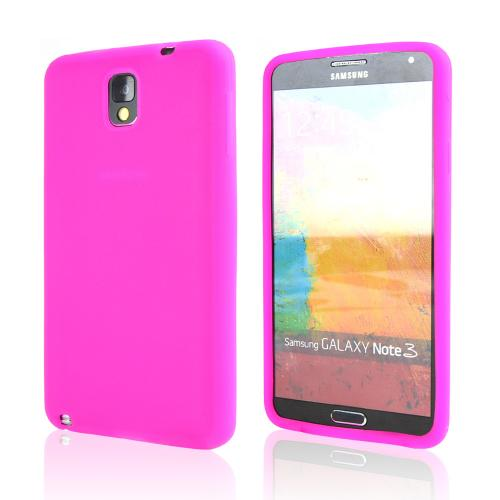 Hot Pink Silicone Skin Case for Samsung Galaxy Note 3