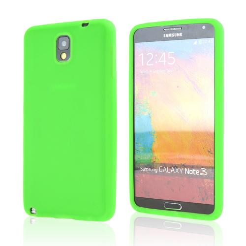 Neon Green Silicone Skin Case for Samsung Galaxy Note 3