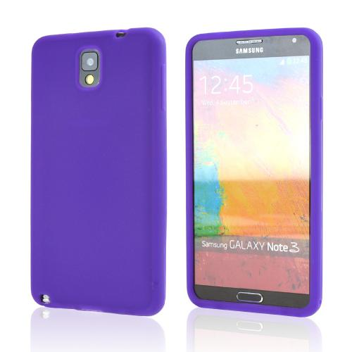 Purple Silicone Skin Case for Samsung Galaxy Note 3