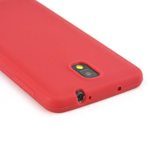 Red Silicone Skin Case for Samsung Galaxy Note 3