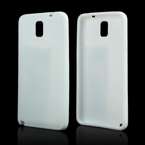 White Silicone Skin Case for Samsung Galaxy Note 3