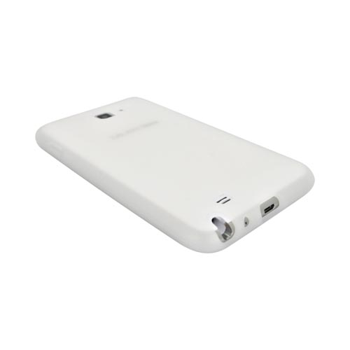 Samsung Galaxy Note Silicone Case - Frost White