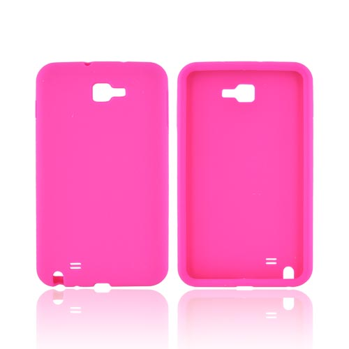 Samsung Galaxy Note Silicone Case - Hot Pink