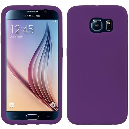 Galaxy S6 Case, [Purple] Soft & Flexible Reinforced Silicone Skin Cover for Samsung Galaxy S6