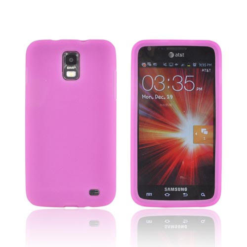 Samsung Galaxy S2 Skyrocket Silicone Case - Hot Pink