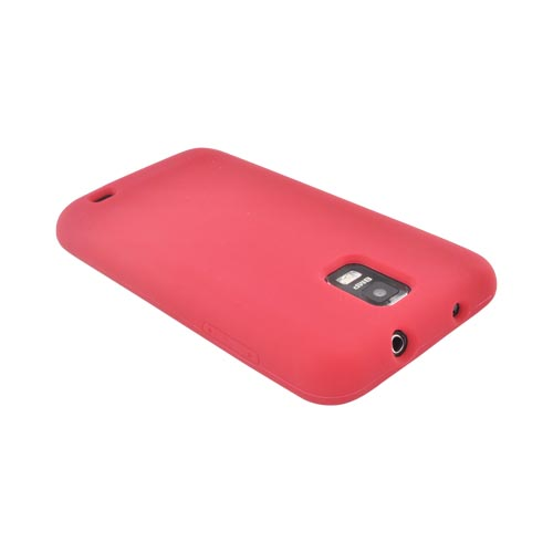 Samsung Galaxy S2 Skyrocket Silicone Case - Red