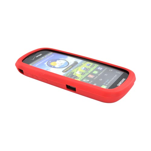 Samsung Continuum i400 Silicone Case - Red