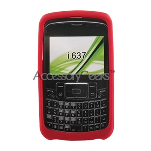 Samsung Jack i637 Silicone Case, Rubber Skin - Red