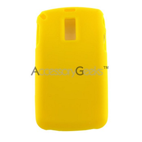 Samsung Jack i637 Silicone Case, Rubber Skin - Yellow