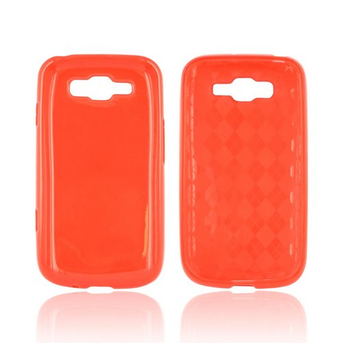Samsung Focus 2 Crystal Silicone Case - Argyle Red