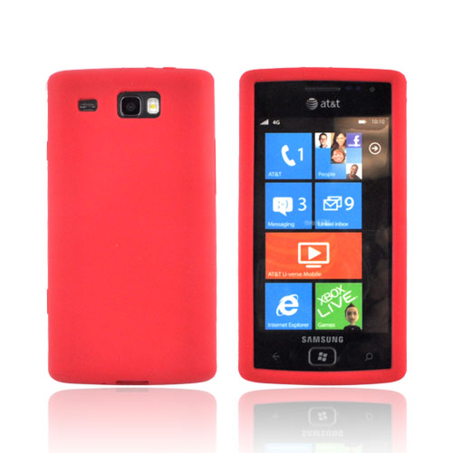 Samsung Focus Flash i677 Silicone Case - Red