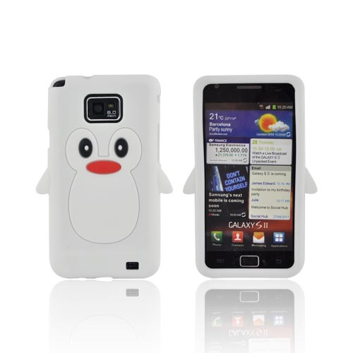 AT&T Samsung Galaxy S2 Silicone Case - White Penguin