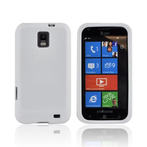 Samsung Focus S i937 Silicone Case - Solid White
