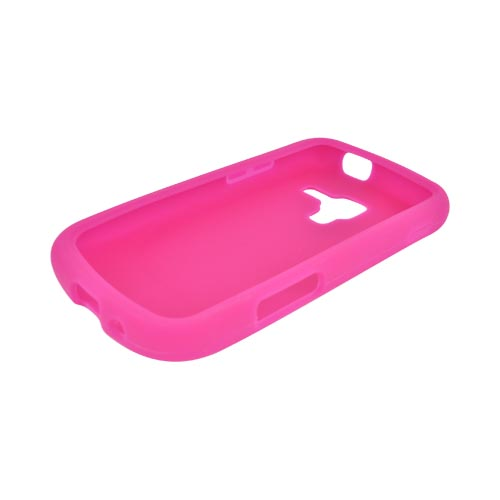 Samsung Exhilarate i577 Silicone Case - Hot Pink