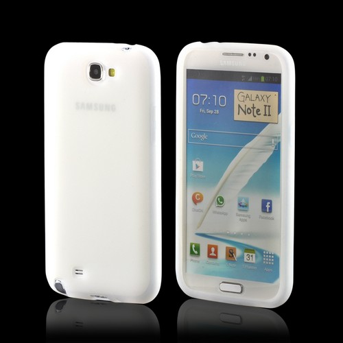 Frost White Silicone Case for Samsung Galaxy Note 2