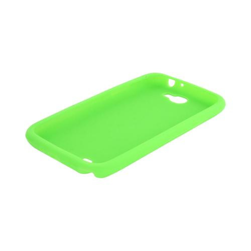 Samsung Galaxy Note 2 Silicone Case - Neon Green