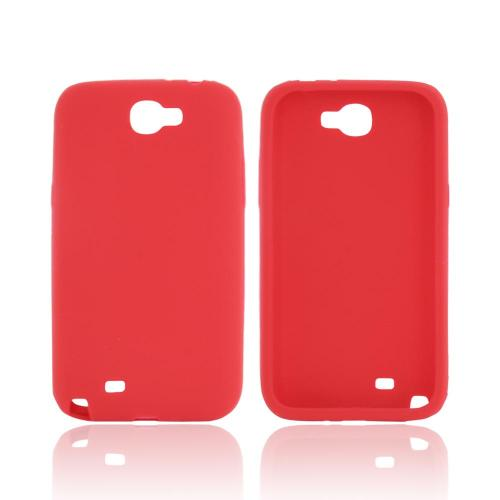 Samsung Galaxy Note 2 Silicone Case - Red