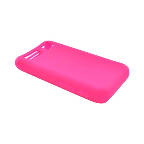 Samsung Omnia Silicone Case, Rubber Skin - Hot Pink
