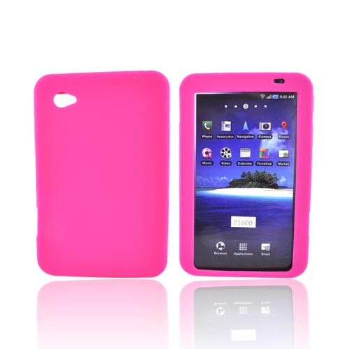 Luxmo Samsung Galaxy Tab P1000 Silicone Case - Hot Pink