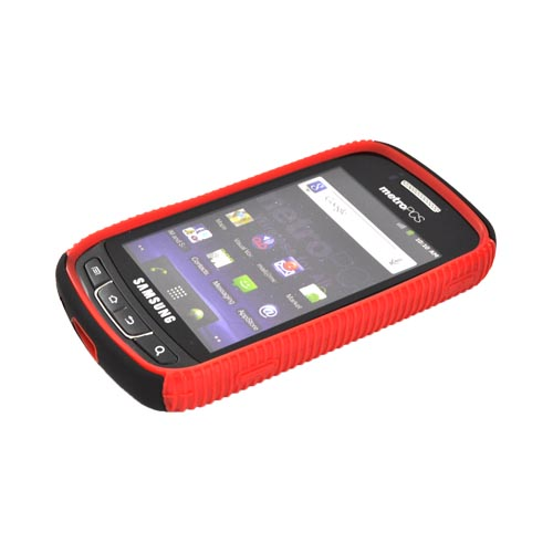 Samsung Rookie R720 Hard Back Over Crystal Silicone - Red/ Black