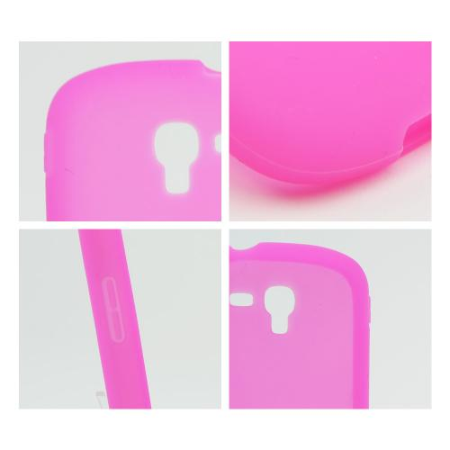 Hot Pink Silicone Skin Case for Samsung Galaxy Exhibit