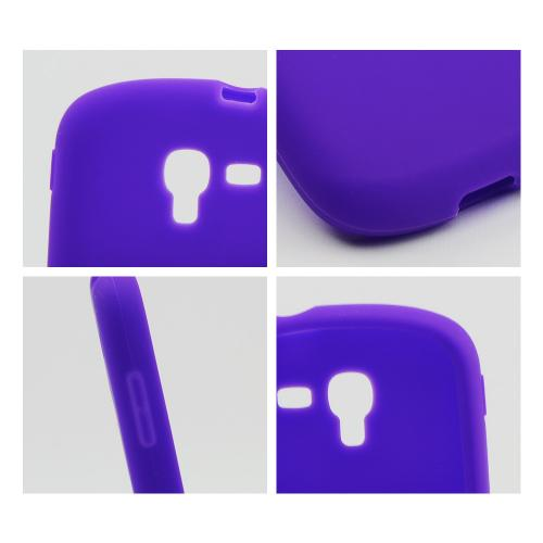 Purple Silicone Skin Case for Samsung Galaxy Exhibit