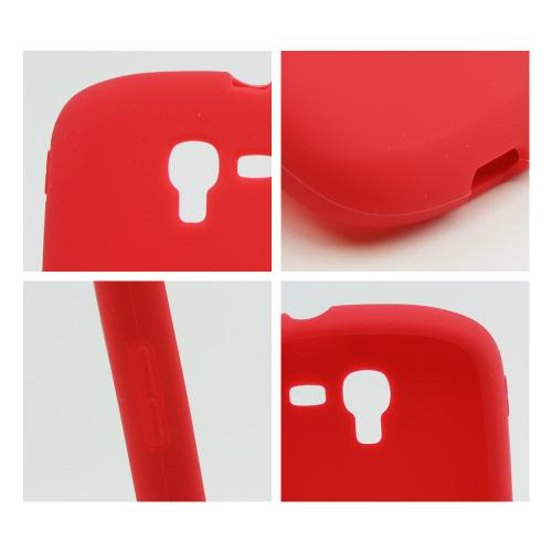 Red Silicone Skin Case for Samsung Galaxy Exhibit