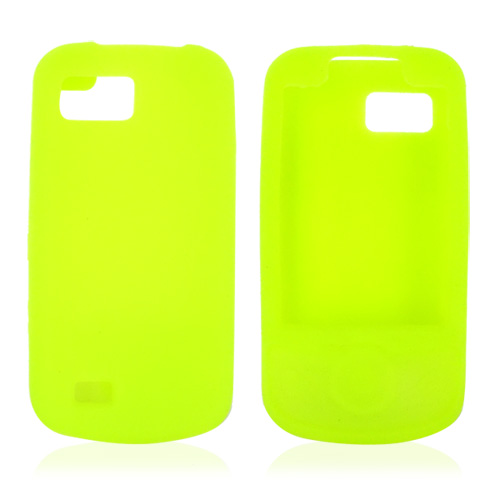Samsung Behold 2 T939 Silicone Case, Rubber Skin - Neon Green