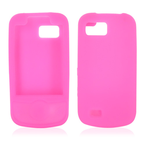 Samsung Behold 2 T939 Silicone Case, Rubber Skin - Neon Pink