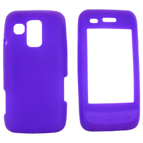 Samsung Rogue U960 Silicone Case, Rubber Skin - Purple