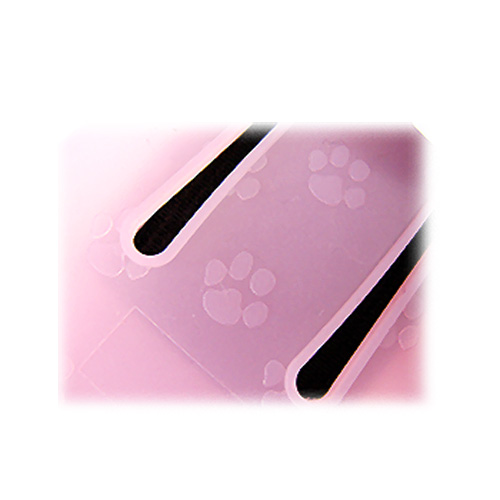 Samsung MP3 Player YP-P3 Silicone Case, Rubber Skin w/ Paws Prints - Baby Pink
