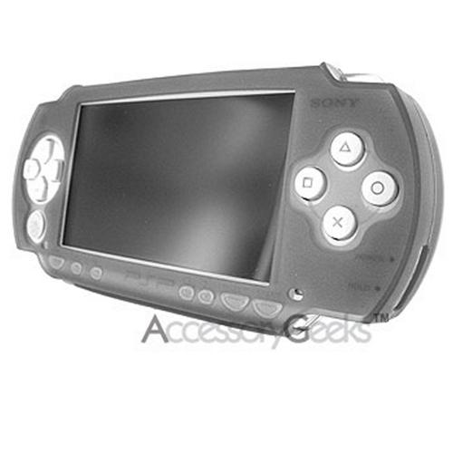 Sony PSP Slim silicone case, rubber skin - Smoke