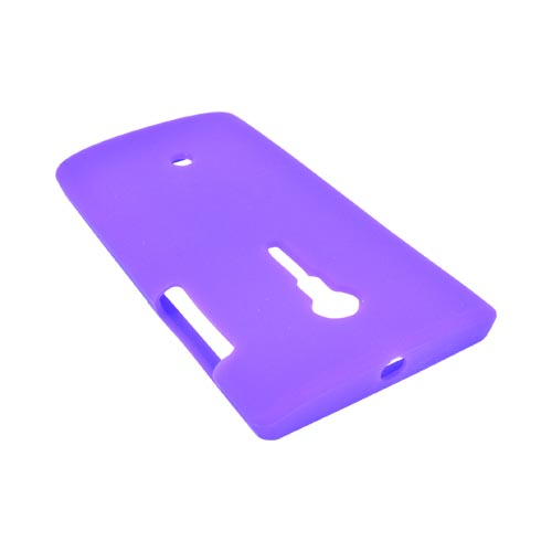Sony Xperia Ion T28i Silicone Case - Purple