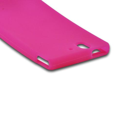 Hot Pink Silicone Case for Sony Xperia Z