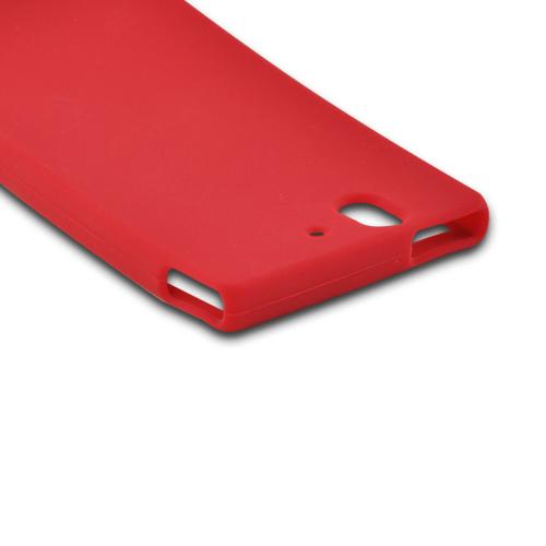 Red Silicone Case for Sony Xperia Z