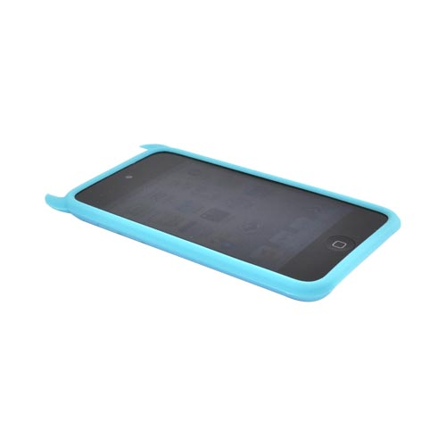 Apple iPod Touch 4 Silicone Case - Blue Devil w/ Horns