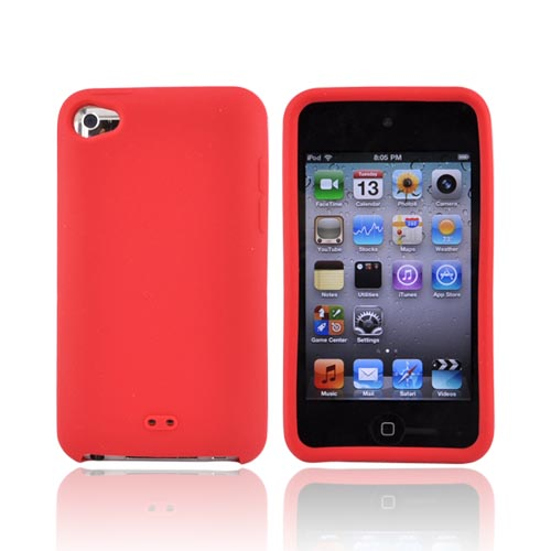 Luxmo Apple iPod Touch 4 Silicone Case - Red