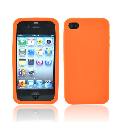 Apple Verizon/ AT&T iPhone 4, iPhone 4S Silicone Case - Orange